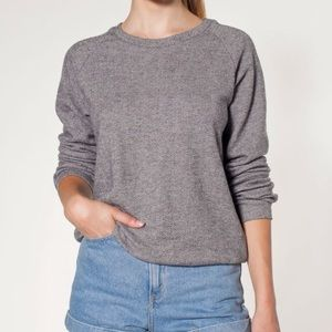 American Apparel Herringbone Grey Sweater